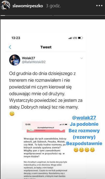 Odpowiedź Peszki na wpis Wolskiego