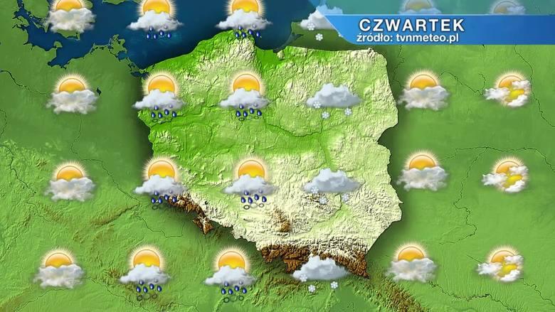 Prognoza pogody na 11 marca. Czwartek pogodny tylko na wschodzie. Nad resztą kraju opady deszczu ze śniegiem i śniegu