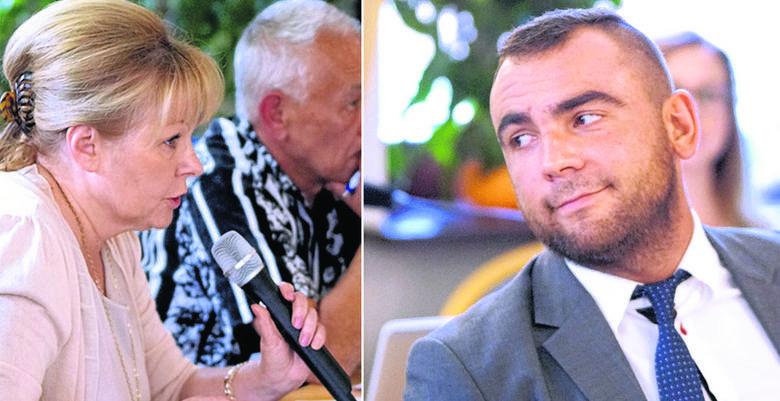 Dorota Klucha i Mateusz Bobek (z prawej) są przeciwko zmianie planu zagospodarowania terenu