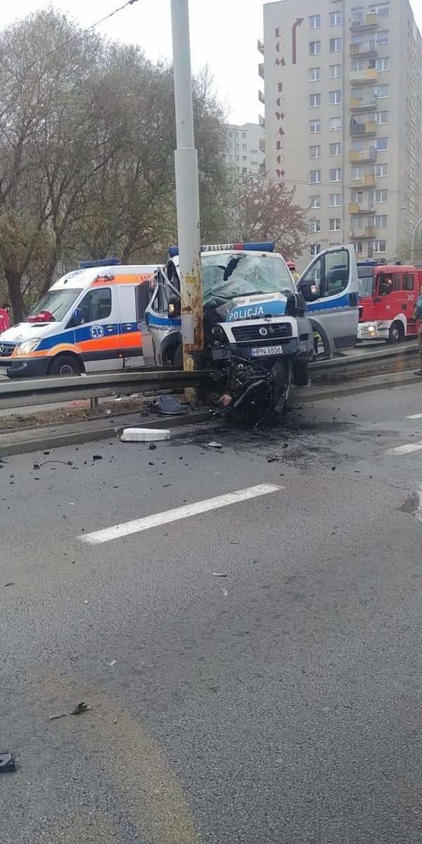 Wypadek na skrzyżowaniu ulic Morskiej i Swarzewskiej w Gdyni 26.11.2019