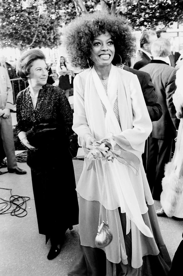 """Diana Ross podczas 45. gali wręczenia Oscarów w 1973 r.Aktorka i piosenkarska została wtedy nominowana do Oscara za najlepszą główną rolę żeńską (""""Lady"""