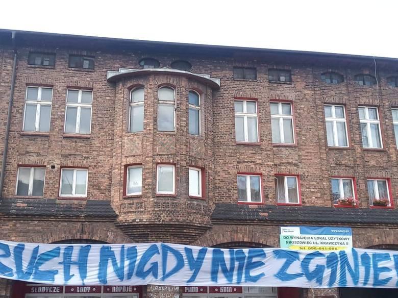 Tour de Pologne. Akcja kibiców Ruchu Chorzów.