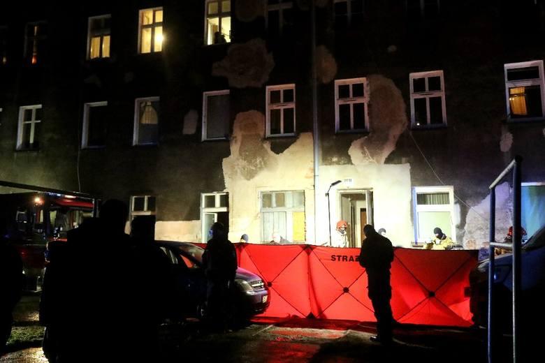 Pożar przy ul. Nowowiejskiej 90b we Wrocławiu 3.02.2021