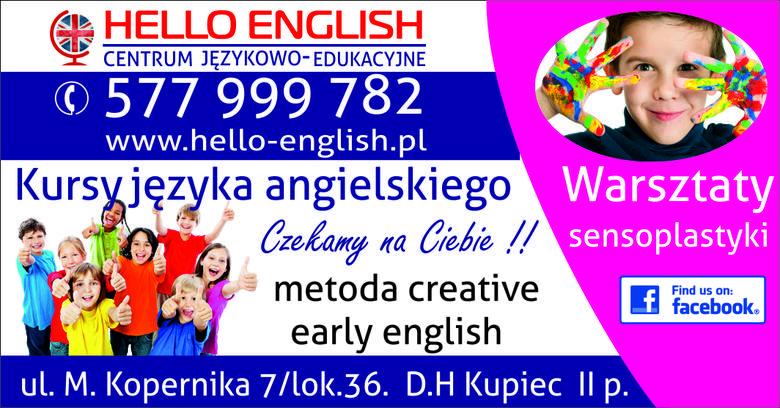 Zapraszamy do nowego Centrum Językowo-Edukacyjnego HELLO ENGLISH w Ostrołęce ul. Kopernika 7 lok.36