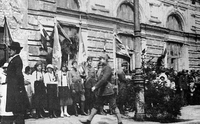 Powitanie Józefa Piłsudskiego na białostockim dworcu, 21 sierpnia 1919 roku