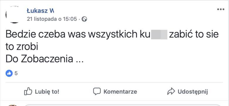 Kilka dni przed śmiercią 35-latka z Siedlec, sądeczanin umieścił na Facebooku taki wpis