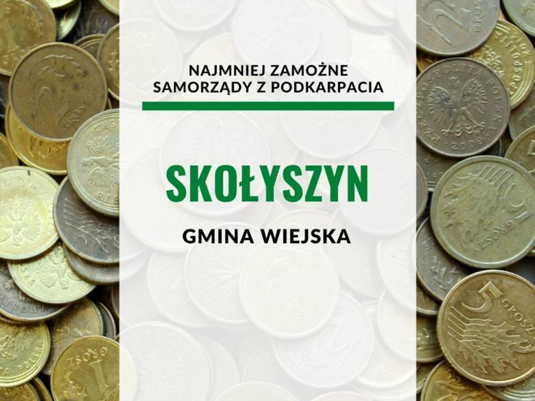 """30. gmina Skołyszyn, powiat jasielski2876,14 złŹRÓDŁO: Tygodnik """"Wspólnota"""""""