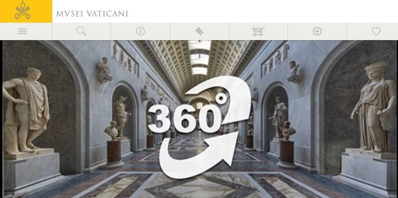 Vatican Museums udostępnia na swojej stronie internetowych aż 6 wirtualnych wycieczek.