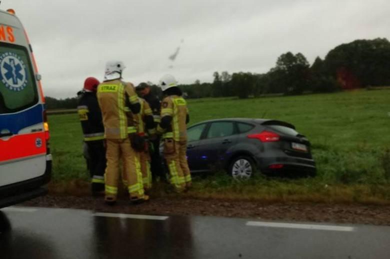 Kierowca forda trafił do szpitala po wypadku w Dobrzyniewie Dużym