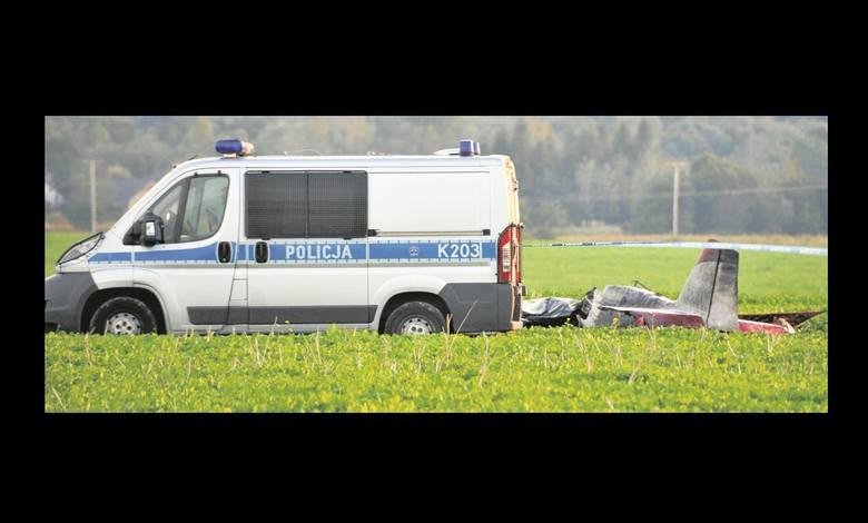 """Dramat rozegrał się po godz. 17. Kilka minut po starcie z lotniska w Krośnie, gdzie trwał """"Odlotowy Piknik"""", awionetka rozbiła się na polach w Głowience."""