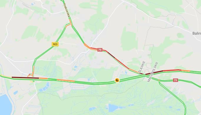 Wypadek na A4 na płatnym odcinku w kierunku Katowic