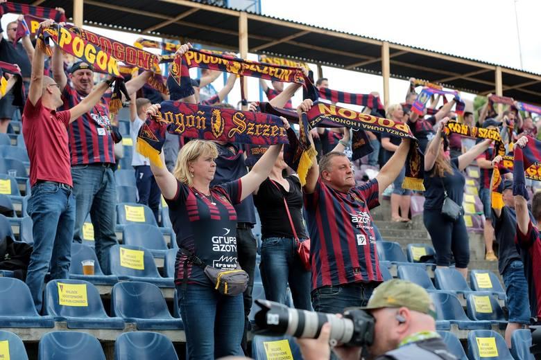 Pogoń zremisowała z Jagiellonią. A tak kibicowali fani Portowców. ZDJĘCIA