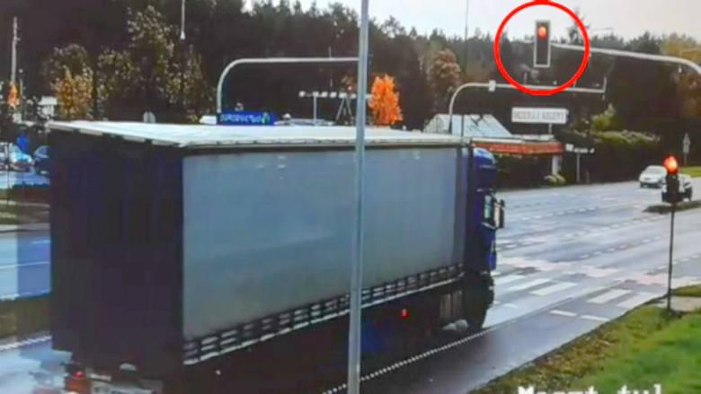 Na czerwonym przez skrzyżowanie Armii Krajowej i Zamczysko w oku policyjnej kamery [zdjęcia i wideo]