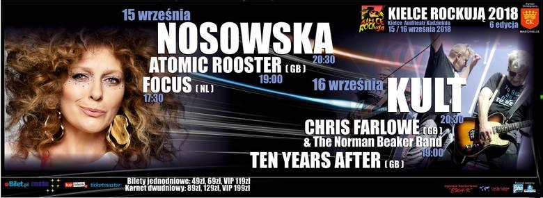 Kult, Ten Years After i Chris Farlowe zagrają na festiwalu Kielce ROCKują! Mamy dla Was zaproszenia!