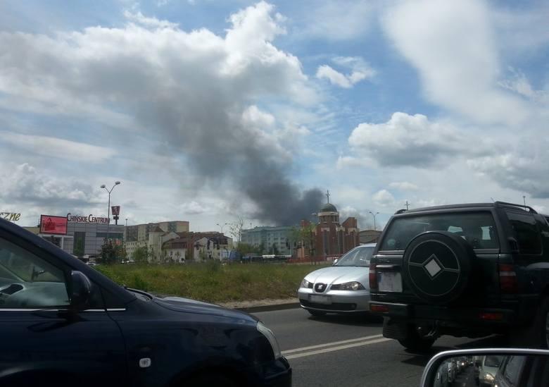 Pożar w Podjuchach w Szczecinie