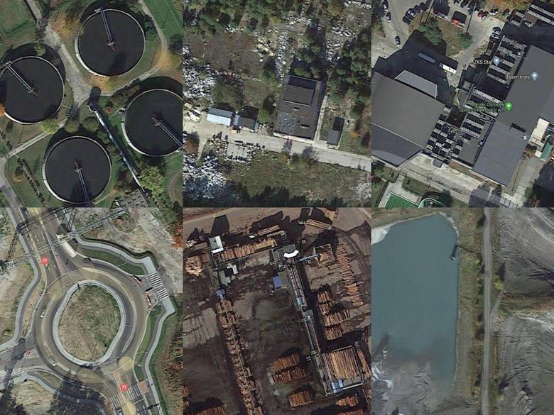 Obiekty i miejsca widziane przez nas na co dzień wyglądają zupełnie inaczej niż widziane z góry. Przygotowaliśmy zestaw zdjęć satelitarnych różnych miejsc