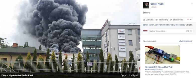 Duży pożar w Katowicach: Dym nad miastem [WIDEO, ZDJĘCIA]