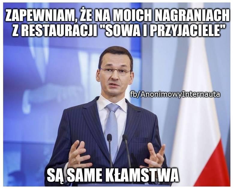 """Afera taśmowa: Taśmy Morawieckiego w MEMACH. Tak internauci komentują nagranie premiera Morawieckiego z restauracji """"Sowa i Przyjaciele&"""