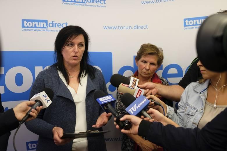 Konferencja prasowa poświęcona sytuacji osób, które stracą pracę w Metronie