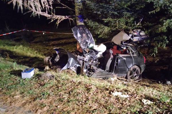 Tragiczny wypadek w Bachórzu. Nie żyje kierująca audi, trzech pasażerów w szpitalach [ZDJĘCIA]