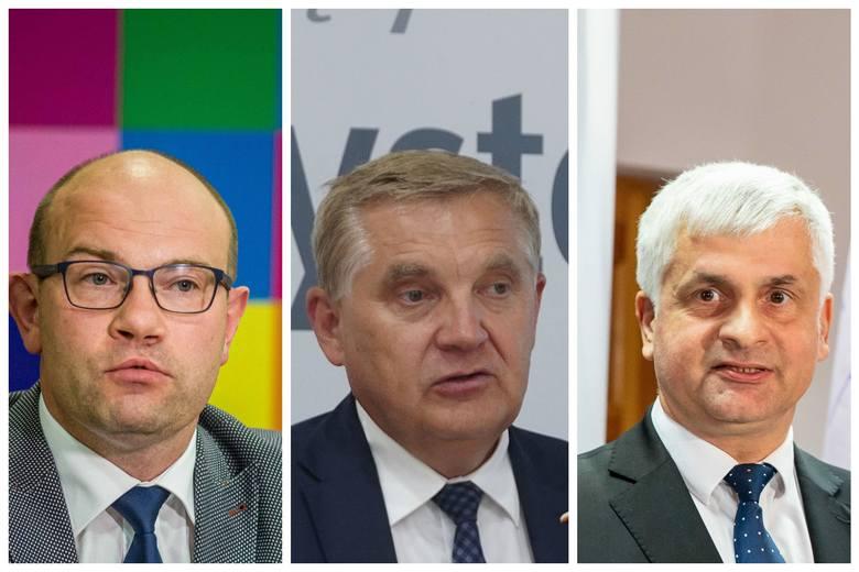 Od lewej: Artur Kosicki, Tadeusz Truskolaski, Bohdan Paszkowski