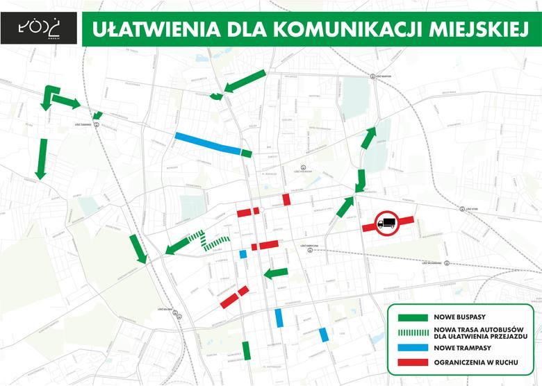 Nowe buspasy na ulicach Łodzi już od kwietnia
