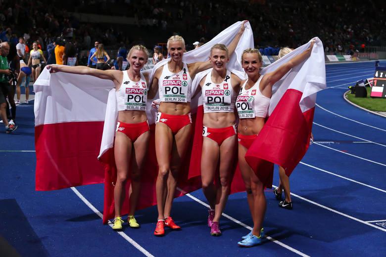 Sztafeta 4x400 m - Małgorzata Hołub-Kowalik, Iga Baumgart-Witan, Patrycja Wyciszkiewicz, Justyna Święty-Ersetic oraz biegające w półfinale Natalia Kaczmarek