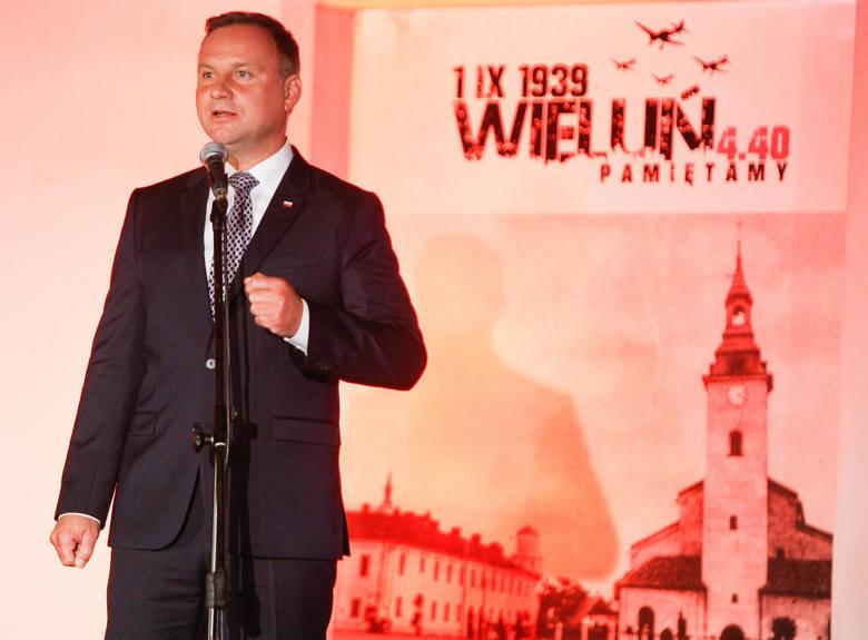 Prezydent Andrzej Duda gościł już na wieluńskich obchodach w 2017 r.