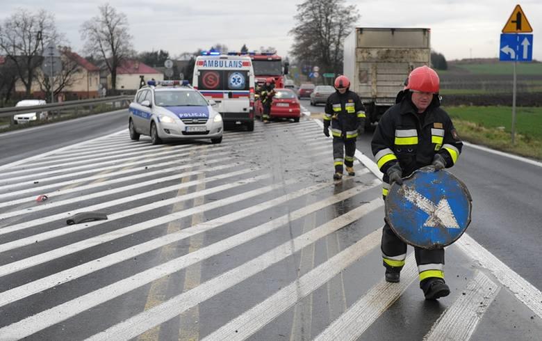 Do zdarzenia doszło w czwartek na drodze krajowej nr 77 w Zadąbrowiu w pow. przemyskim.