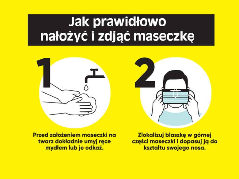 Jak prawidłowo nałożyć i zdjąć maseczkę oraz rękawiczki? Od 16.04.2020 obowiązkowe zakrywanie nosa i ust
