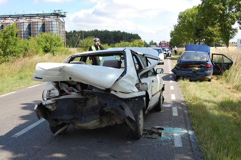 Wypadek koło Pełczyc. Nie żyje kierowca fiata.