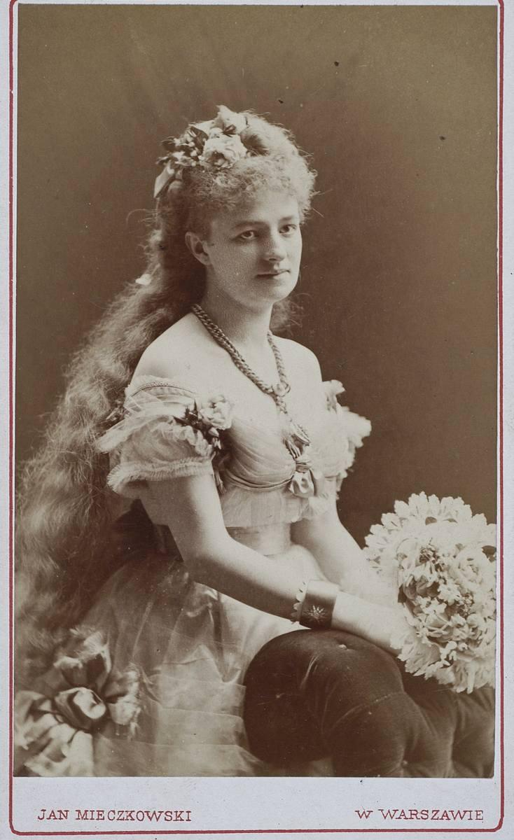 """Helena Modrzejewska jako Gabriela w spektaklu """"Froufrou"""" Henri Meilhac'a i Ludovic'a Halévy'ego, Jan Mieczkowski (1830-1889)"""