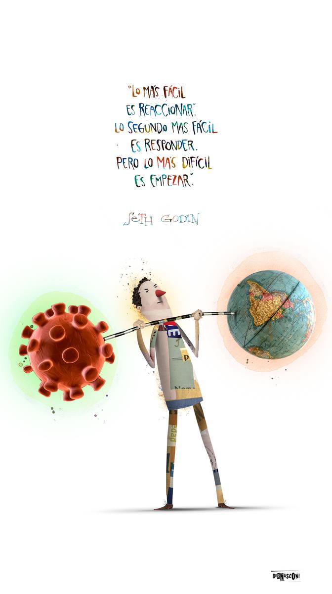 Koronawirus zmienił świat. Tak pandemię komentują graficy i ilustratorzy