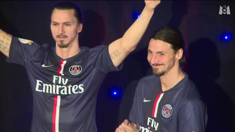 Jeszcze zanim Szwed odszedł do Manchesteru United, w muzeum Grevin w Paryżu odsłonił swoją figurę woskową. -  Ten po prawej jest z wosku, a ten po lewej