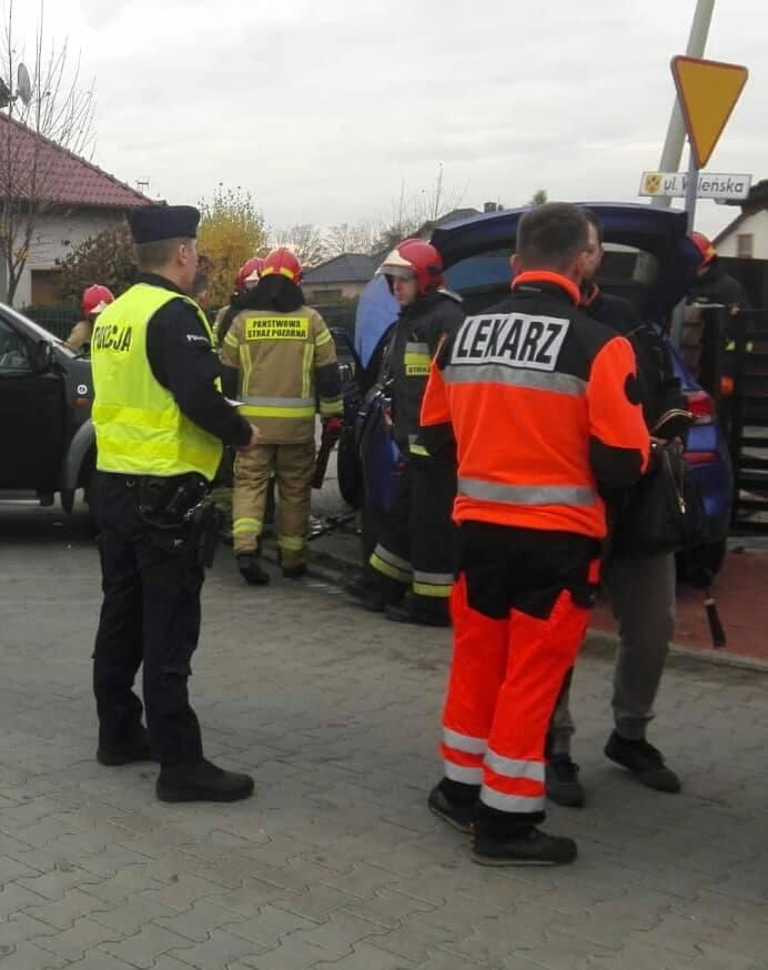 Do wypadku doszło na skrzyżowaniu ulic Wileńskiej i Kombatantów.
