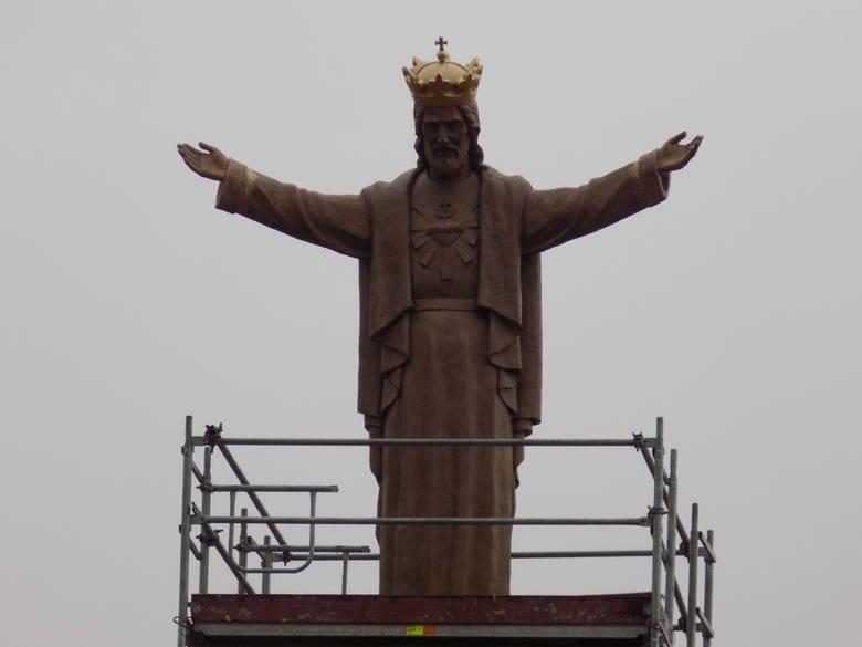 Tak prezentuje się pomnik Chrystusa Króla w Jaśle