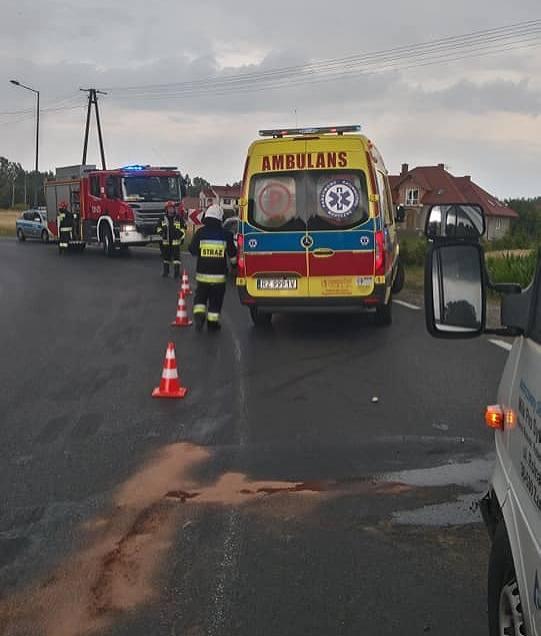 Do wypadku doszło w sobotę około godz. 15.30 w Tryńczy w powiecie przeworskim. Kierujący motocyklem na łuku drogi stracił panowanie nad pojazdem, zjechał
