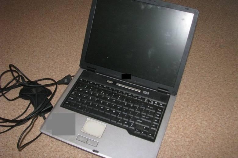 Pirackie programy były zainstalowane w laptopie.