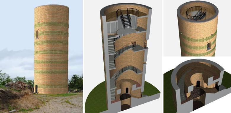 Wizualizacja odbudowanej wieży zamkowej