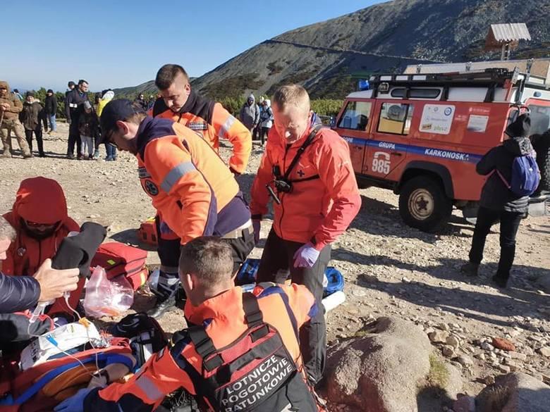 Dramatyczna akcja ratunkowa pod Śnieżką. Turyści mieli pretensje [ZDJĘCIA]