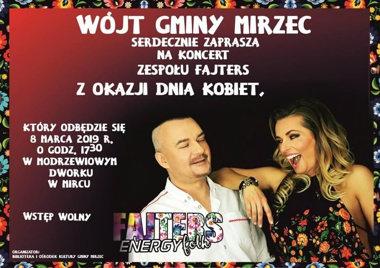 Plakat koncertu w Mircu, z okazji Międzynarodowego Dnia Kobiet