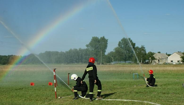 Zawody sportowo - pożarnicze w miejscowości Strzelce