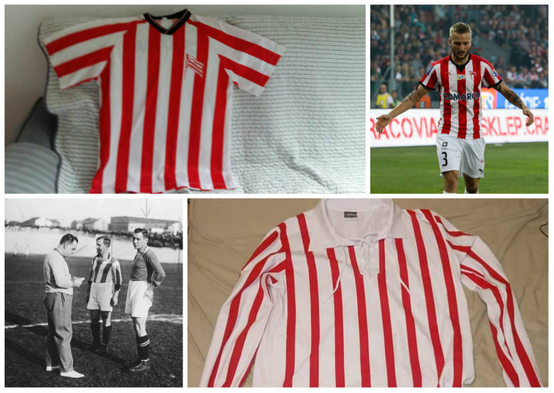 """Cracovia. Tak przez lata zmieniały się koszulki piłkarzy """"Pasów"""" [ZDJĘCIA]"""