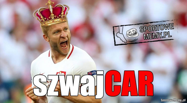 Memy po meczu Polska-Szwajcaria: car Kuba, Milik gra w futbol amerykański [GALERIA]