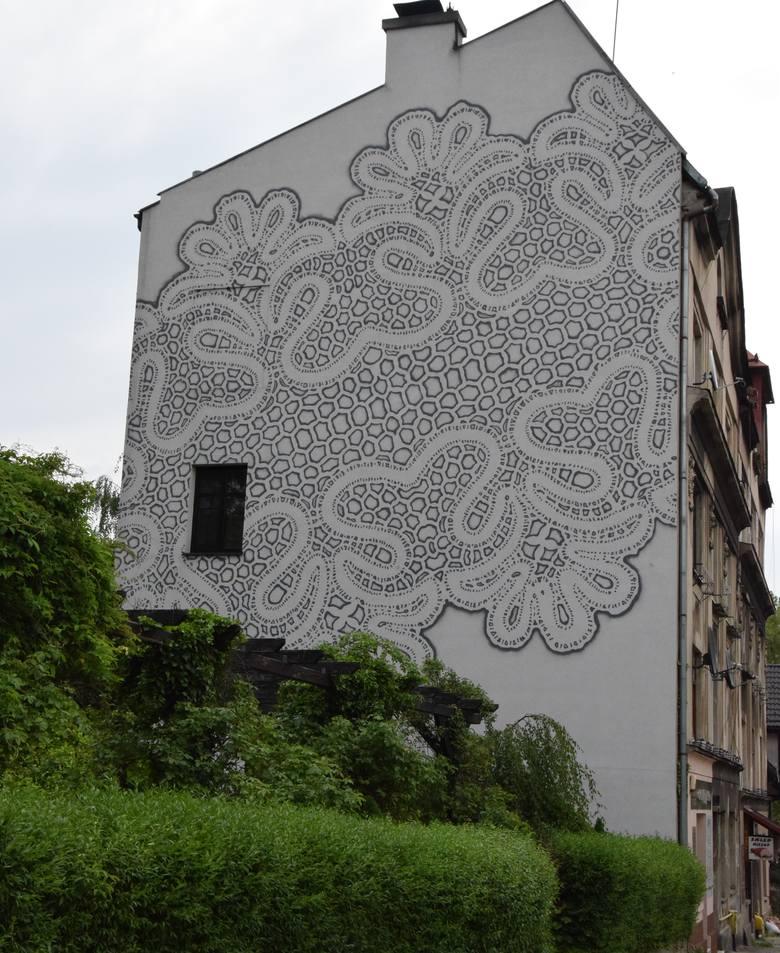 Mural przy ul. Jana III Sobieskiego.