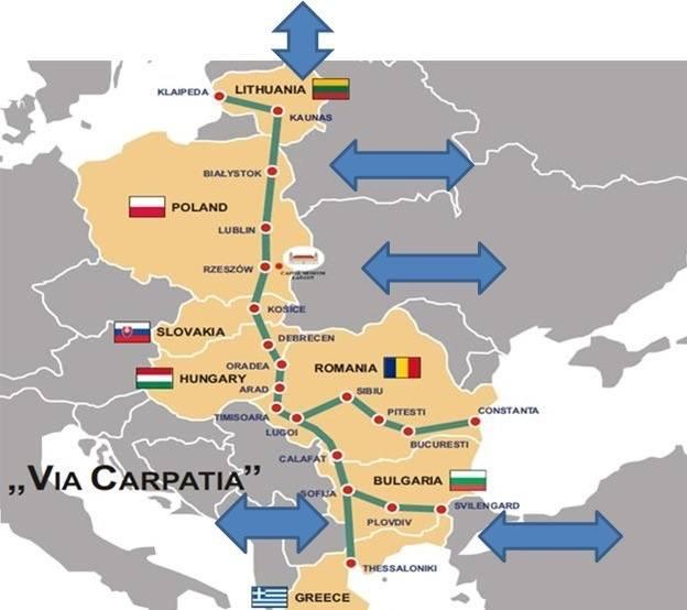 Tak będzie przebiegała Via Carpatia przez Europę