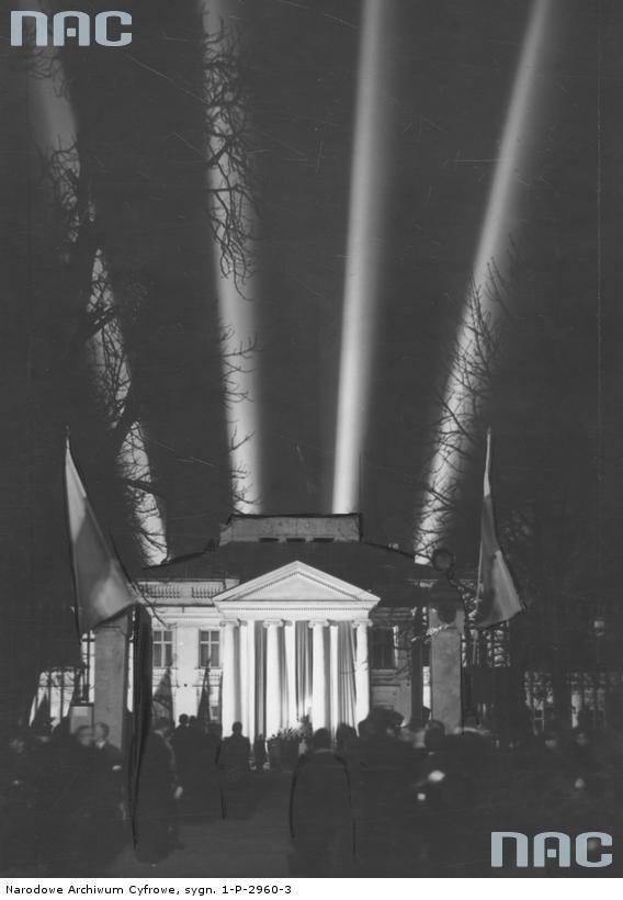 Iluminacja świetlna Belwederu z okazji Święta Niepodległości