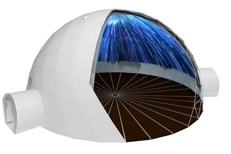 """DevotionRynek Staromiejski20–25.08.2019, 20.30–24.00""""Devotion"""" to zachwycająca projekcja w formacie 360 stopni autorstwa Centrum Nauki Keplera Planetarium"""