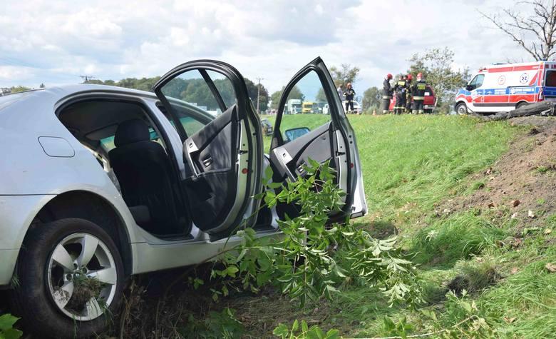 Wypadek na DK91 pomiędzy Tczewem a Zajączkowem Tczewskim. Zderzyły się dwa samochody 04.09.2019 [zdjęcia]