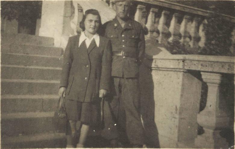 1949 siostra Marysia z mężem Witoldem Ziuko